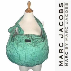 Marc by Marc Jacobs Green Reversible Letters Bag